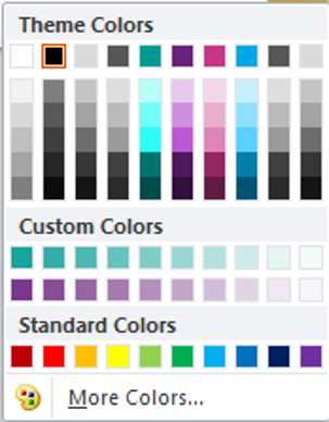 PowerPoint custom colours