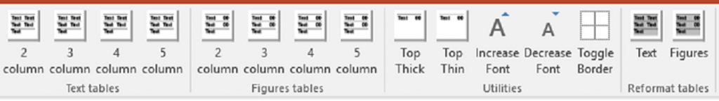PowerPoint custom table add-in